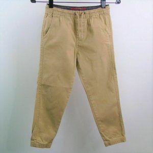 Boys Pants Stretch Waist Beige
